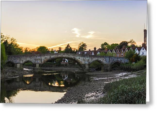 River Medway Greeting Cards - Aylesford sunset Greeting Card by Ian Hufton