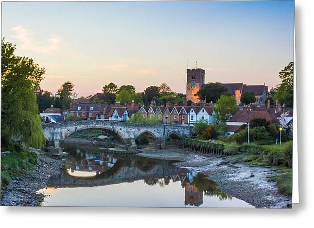 River Medway Greeting Cards - Aylesford Village Greeting Card by Ian Hufton