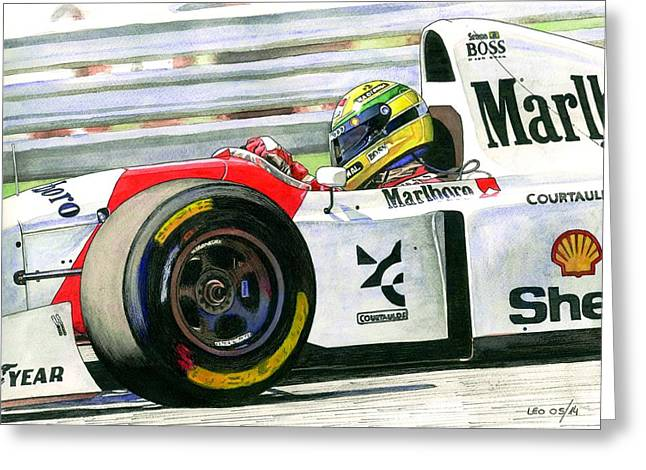 Acuarelas Greeting Cards - Ayrton Greeting Card by Leonardo Baigorria