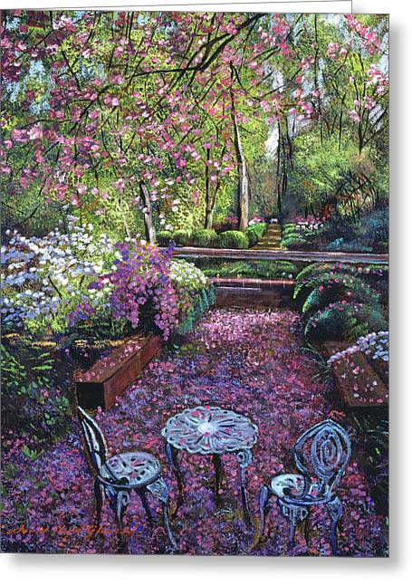 Iron Greeting Cards - Azaleas And Cherry Blossoms Greeting Card by David Lloyd Glover