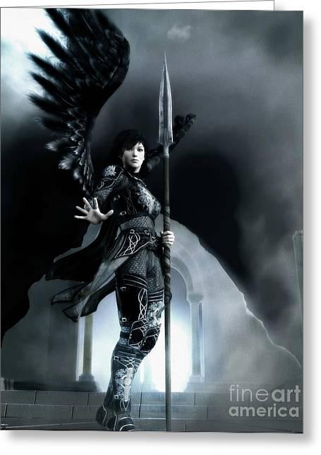 Archangel Azrael Greeting Cards - Azrael Greeting Card by Gabriel Forgottenangel