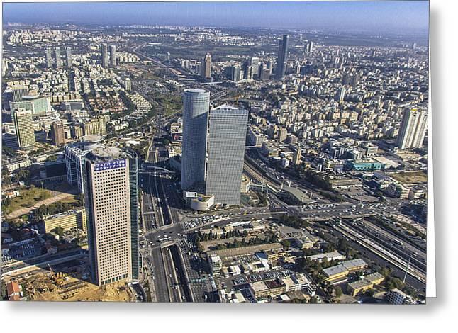 Ofir Ben Tov Greeting Cards - Azrieli Towers, Tel Aviv Greeting Card by Ofir Ben Tov