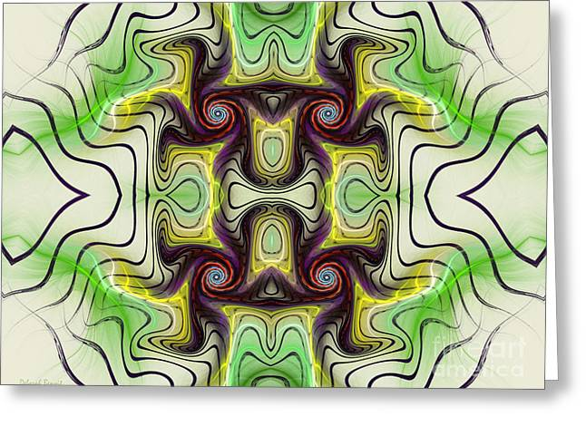 Deborah Benoit Greeting Cards - Aztec Art Design Greeting Card by Deborah Benoit