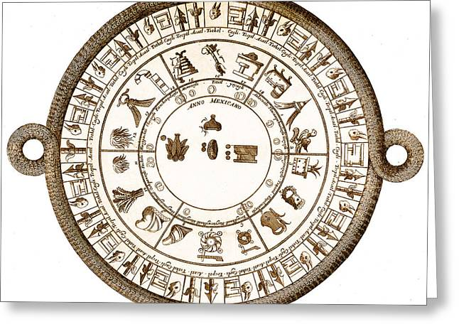 Aztec Calendar Greeting Card by Getty Research Institute