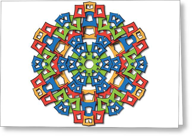 Ethnic Tapestries - Textiles Greeting Cards - Aztec Mandala Big Sun Greeting Card by Jozef Jankola
