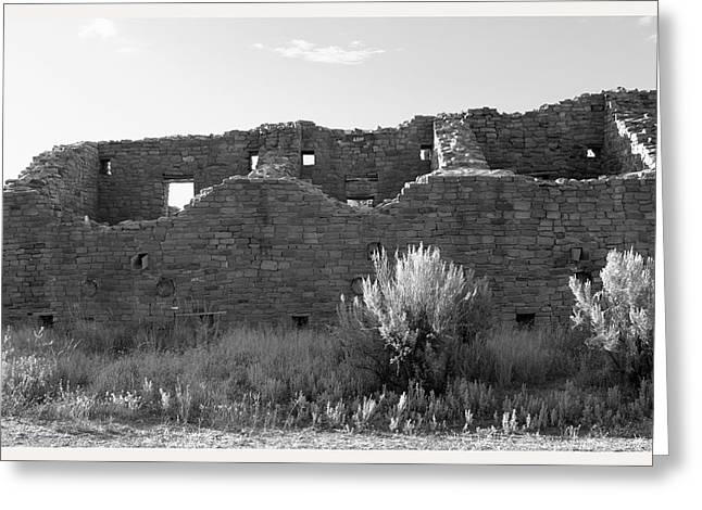 Out-of-date Greeting Cards - Aztec Ruins New Mexico                     Greeting Card by Mark Goebel