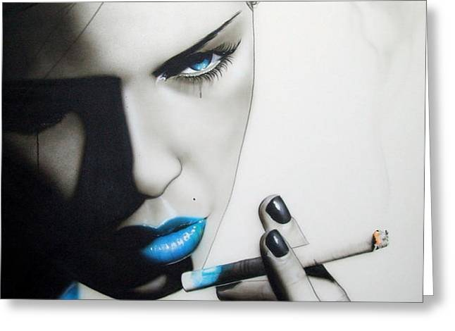 'Azure Addiction' Greeting Card by Christian Chapman Art
