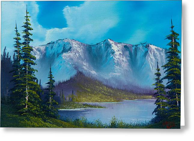 Recently Sold -  - Bob Ross Paintings Greeting Cards - Azure Ridge Greeting Card by C Steele