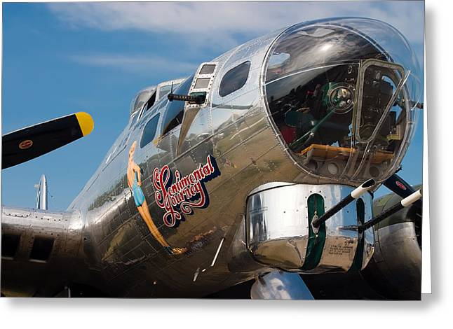 Sentimental Greeting Cards - B-17 Flying Fortress Greeting Card by Adam Romanowicz