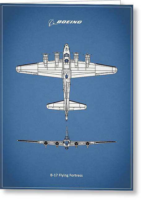 Airplane Greeting Cards - B-17 Flying Fortress Greeting Card by Mark Rogan