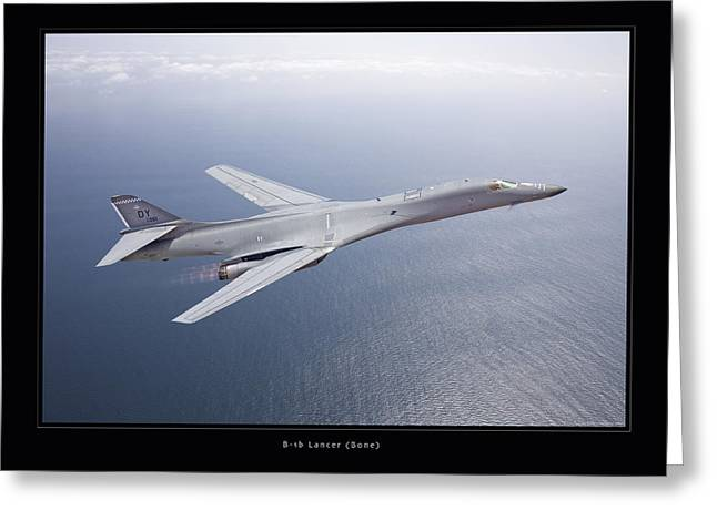 Airplane Art Framed Prints Greeting Cards - B-1B Lancer Greeting Card by Larry McManus