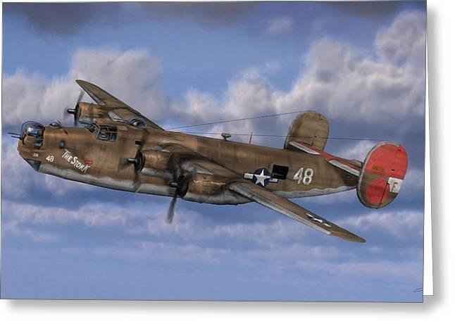 B-24 Liberator Greeting Card by Dale Jackson