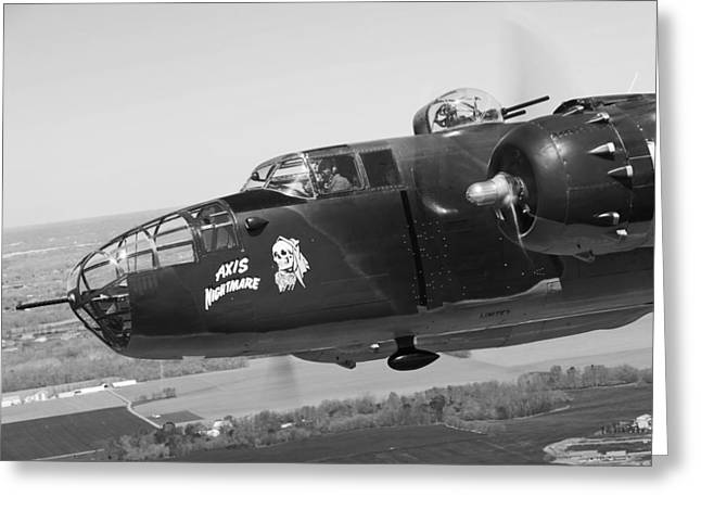 U.s. Air Force Greeting Cards - B-25 Greeting Card by Mountain Dreams