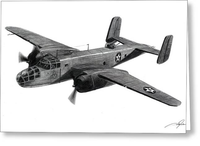 B-25 Mitchell Greeting Cards - B-25B The Ruptured Duck Greeting Card by Dale Jackson
