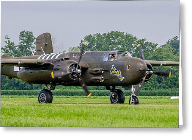 Barbie Iii Greeting Cards - B-25H Barbie III   7D03894 Greeting Card by Guy Whiteley
