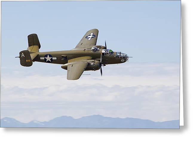 North American B-25j Mitchell Photographs Greeting Cards - B-25J Mitchell Greeting Card by Ross Murphy