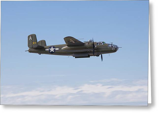 B-25J Greeting Card by Ross Murphy