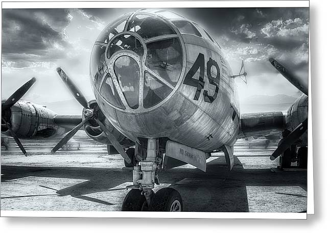 B29 Bomber Greeting Cards - B-29 March Field Greeting Card by Steve Benefiel