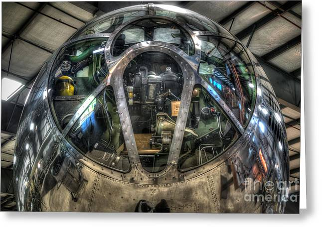 B29 Bomber Greeting Cards - B-29 Nose Jacks Hack Greeting Card by Dan Villeneuve