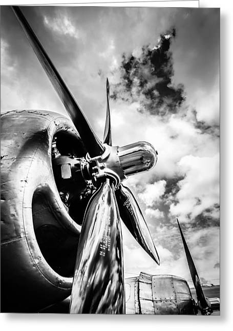 B 29 Superfortress Propellers  Greeting Card by Puget  Exposure