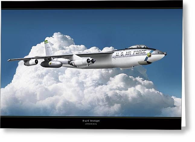 Airplane Art Framed Prints Greeting Cards - B-47 Stratofortress Greeting Card by Larry McManus