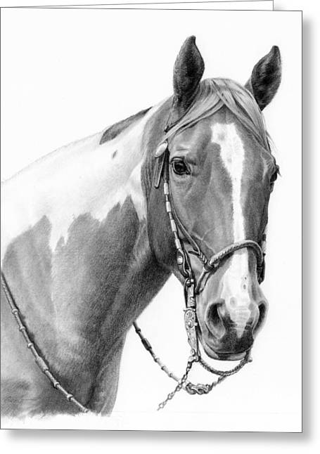 Saddle Greeting Cards - B and W study Greeting Card by JQ Licensing