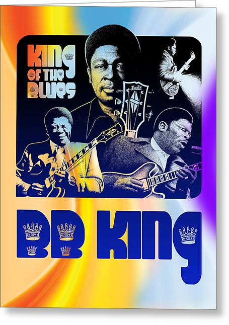 Stylized Beverage Greeting Cards - B. B. King Poster Art Greeting Card by Robert Korhonen