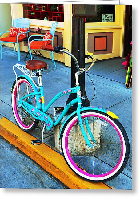 Store Fronts Greeting Cards - Telluride Bike Greeting Card by David Lee Thompson
