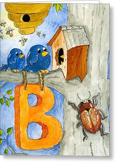 Wild Life Drawings Greeting Cards - B Greeting Card by Eva Ason