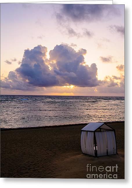 Atlantic Beaches Greeting Cards - B R E A T H L E S S Greeting Card by Charles Dobbs
