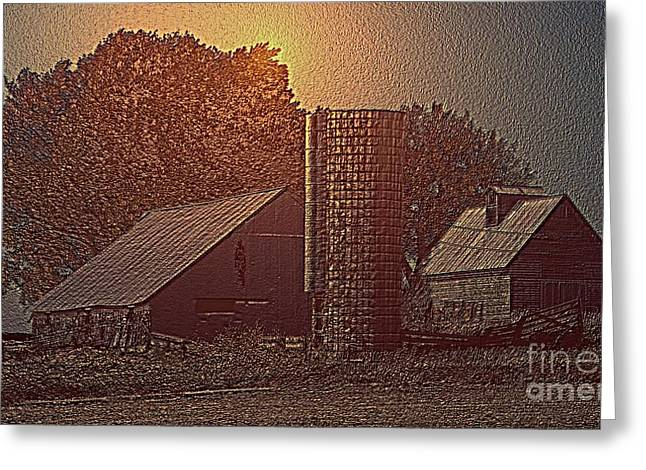 Barn Digital Greeting Cards - B142210 Greeting Card by Jim Hansen