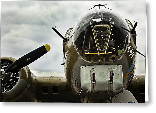 Mac K Miller Greeting Cards - B17 Bomber form WW II Greeting Card by M K  Miller