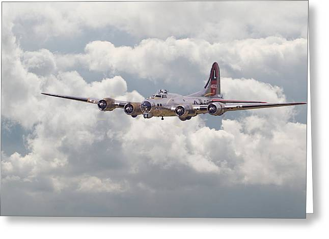 Military Aircraft Greeting Cards - B17- Yankee Lady Greeting Card by Pat Speirs