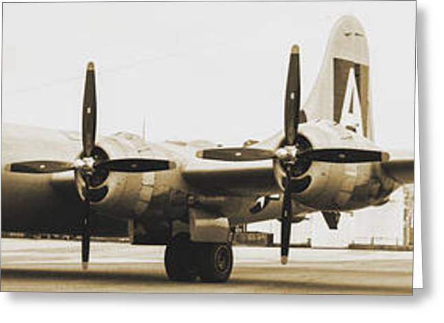 B29 Bomber Greeting Cards - B29 FIFI - antique photo Greeting Card by Michael Golden