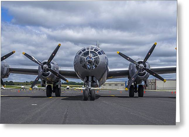 Enola Gay Greeting Cards - B29  superfortress Greeting Card by Steven Ralser