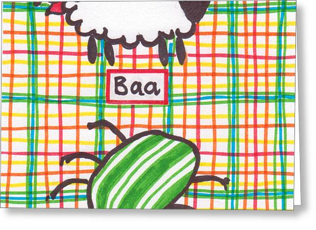 Baa Humbug Greeting Card by Julie  Hutchinson