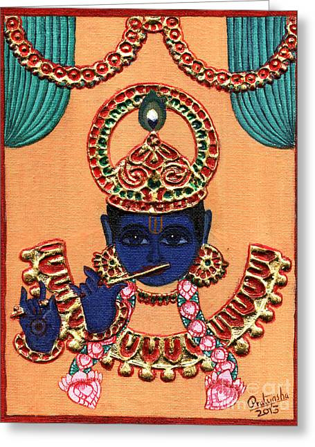Govinda Greeting Cards - Baansuri Krishna Greeting Card by Pratyasha Nithin