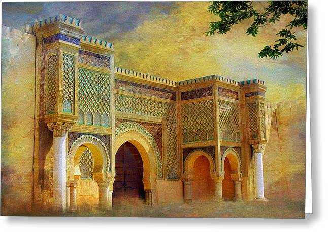 Essaouira Greeting Cards - Bab Mansur Greeting Card by Catf