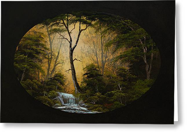 Bob Ross Paintings Greeting Cards - Forest Brook Greeting Card by C Steele