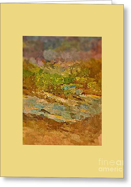 Babbling Paintings Greeting Cards - Babbling Brook Greeting Card by Cindy McClung