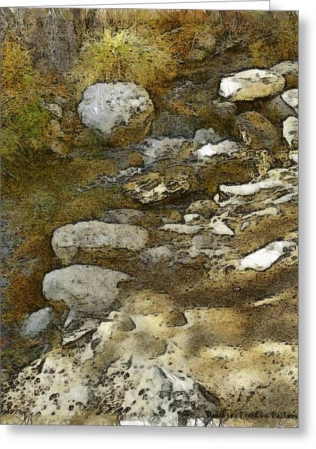 Babbling Brook Watercolor Greeting Card by Barbara Snyder