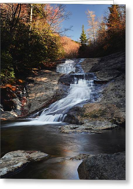 Babbling Greeting Cards - Babbling Springs Cascade Greeting Card by Frank Burhenn
