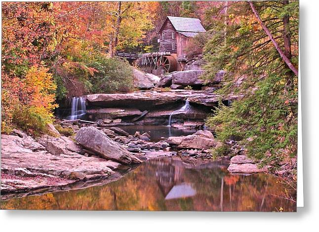 Grist Mill Digital Art Greeting Cards - Babcock grist mill Greeting Card by John Samsen