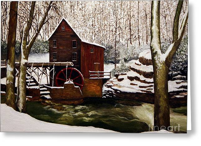 Babcock Mill In The Snow Greeting Card by Timothy Smith