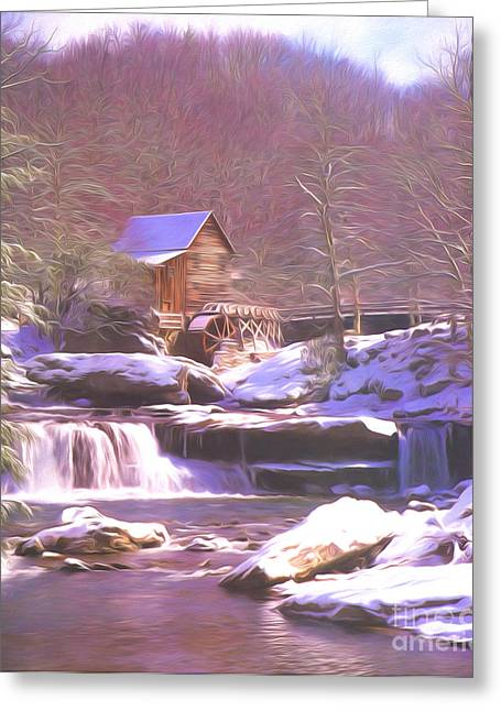 Grist Mill Greeting Cards - Babcock Mill Greeting Card by Steve Bailey