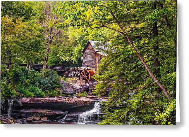 Stream Greeting Cards - Babcock State Park WV Greeting Card by Steve Harrington