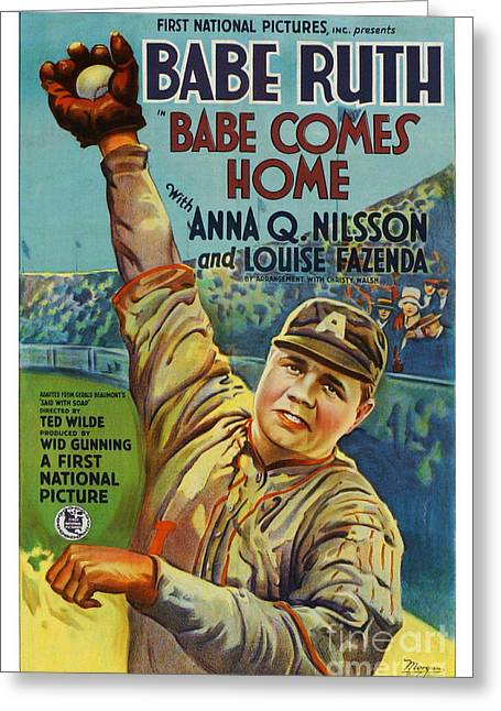 Babe Ruth Posters Greeting Cards - Babe Comes Home Greeting Card by CSlater