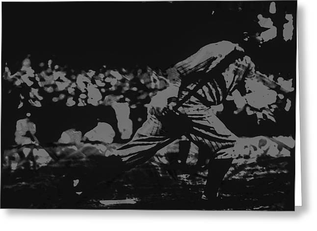 Mbl Greeting Cards - Babe Ruth Greeting Card by Brian Reaves