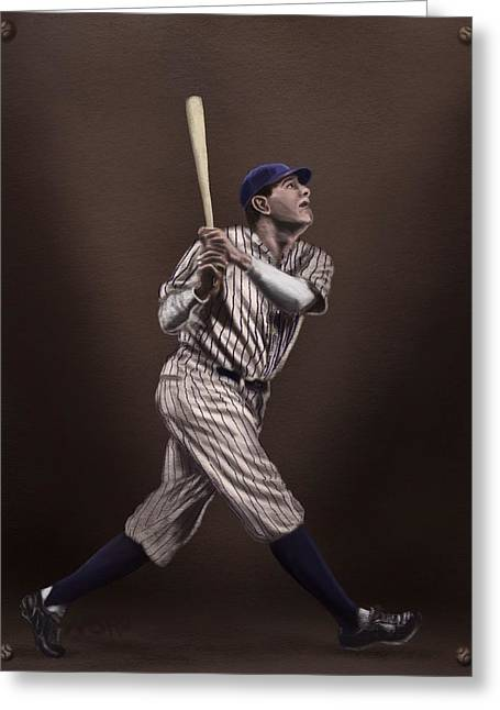 American Icon Babe Ruth Greeting Cards - Babe Ruth Greeting Card by Jeremy Nash