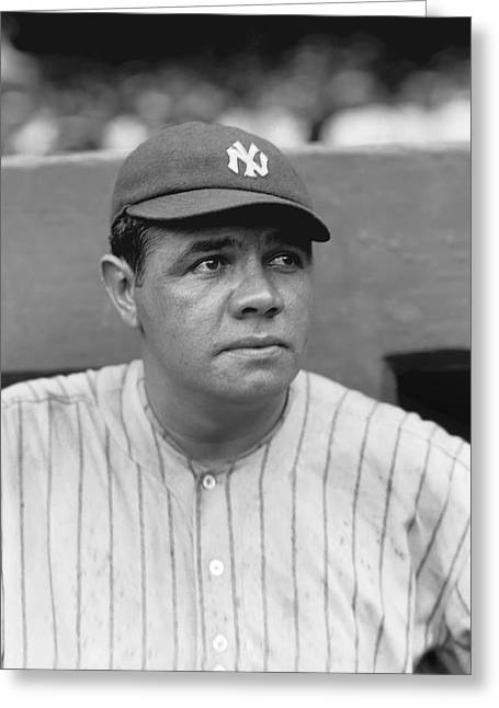 Antique Pictures Greeting Cards - Babe Ruth New York Yankees Greeting Card by Retro Images Archive